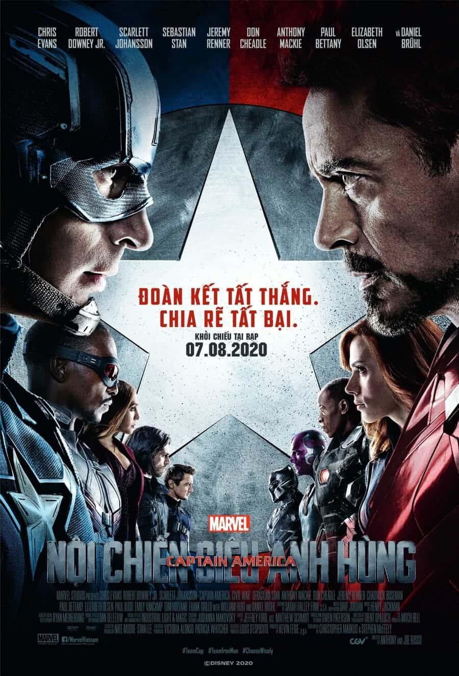 phim captain america nội chiến siêu anh hùng