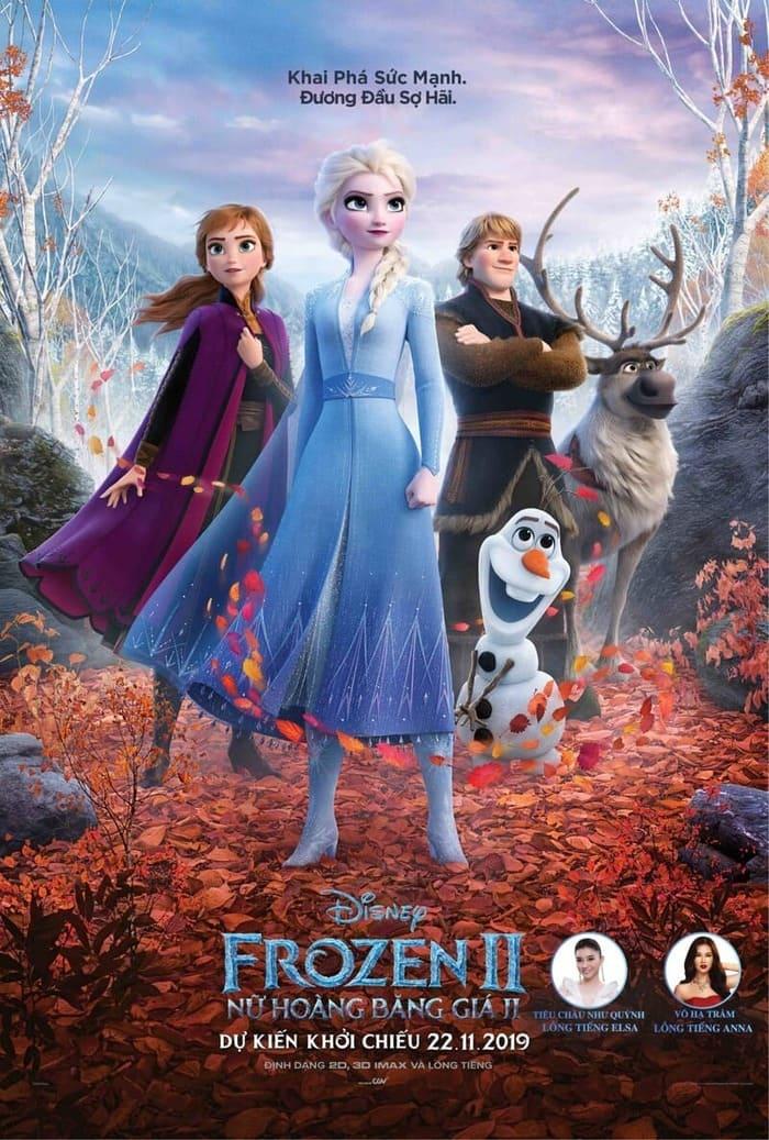 phim hoạt hình chiếu rạp của disney frozen 2