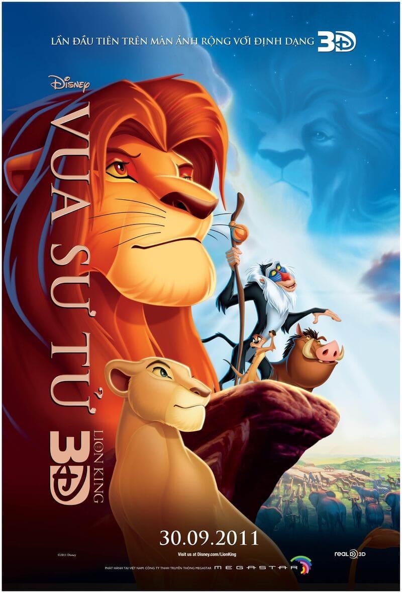 phim hoạt hình chiếu rạp của disney vua sư tử