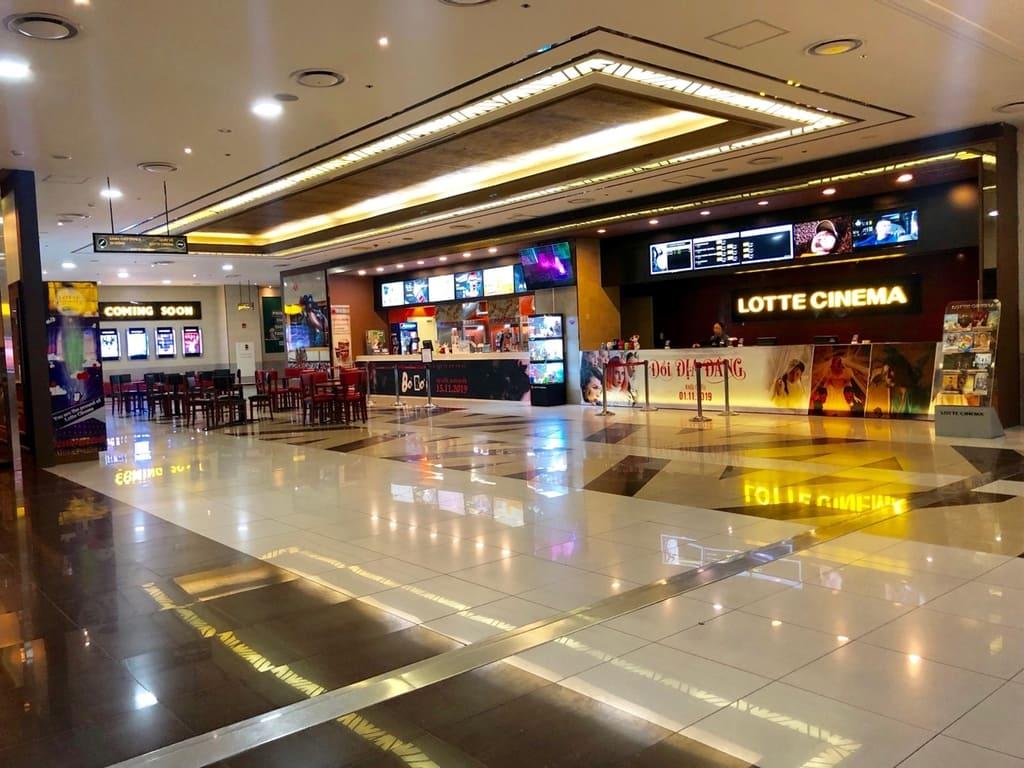 không gian lotte cinema keangnam