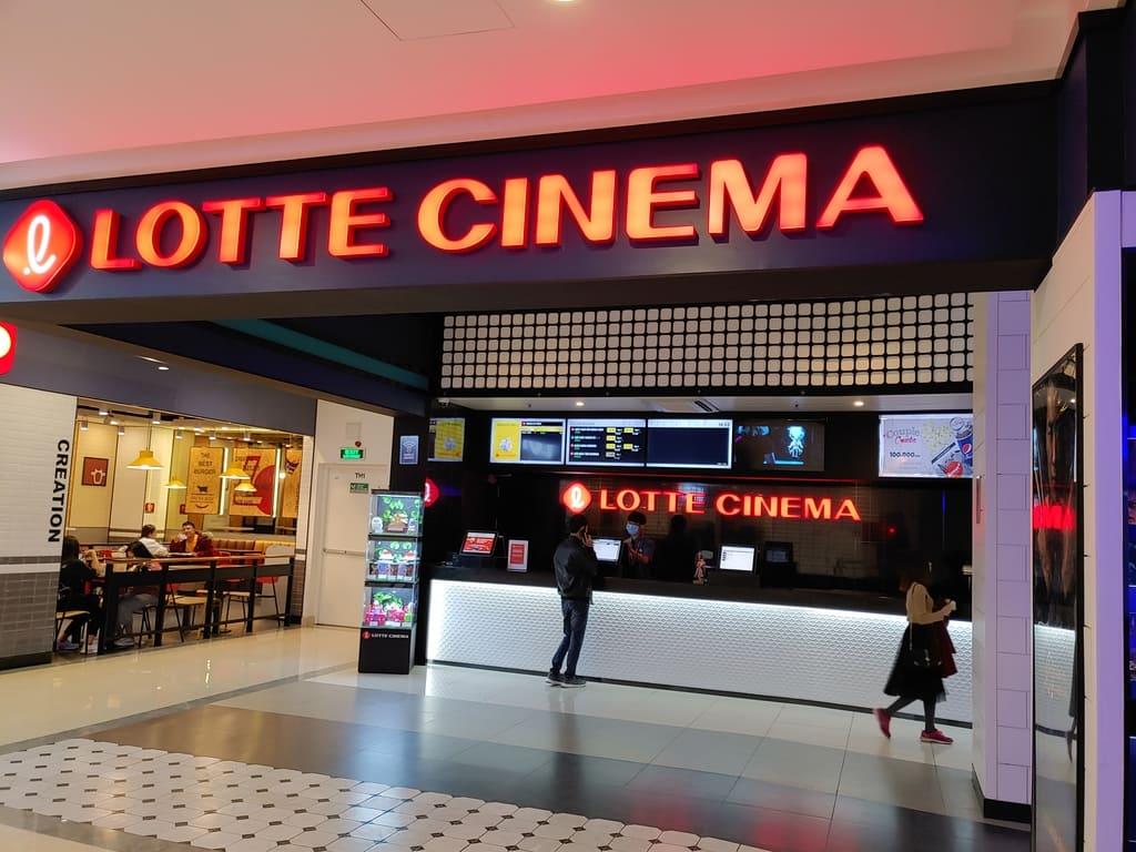 không gian rạp lotte cinema phủ lý