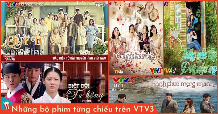 những bộ phim từng chiếu trên vtv3